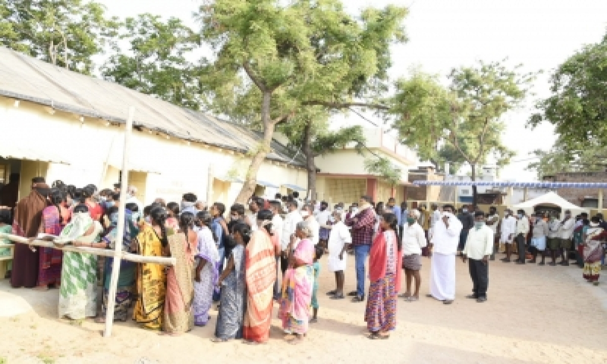 17.3% Voting Percentage Recorded By 11 A.m. In Tirupati By-poll-TeluguStop.com