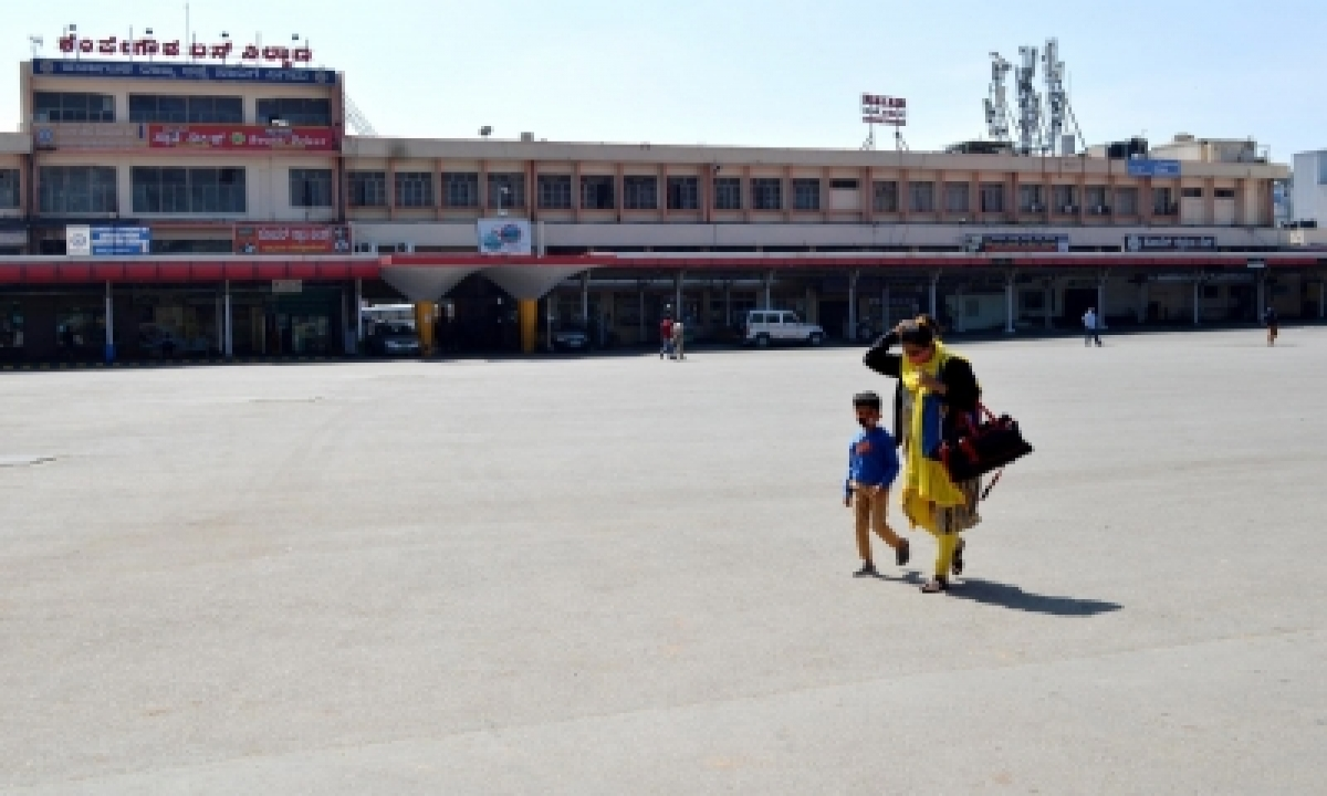 2,663 Buses Operate In Karnataka Despite Staff Strike-TeluguStop.com