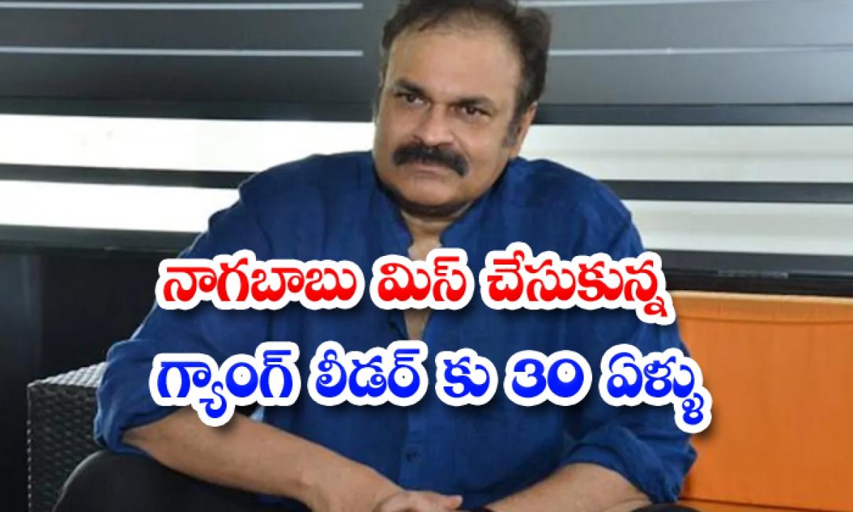 Nagababu Leave Gang Leader For Mega Star Chiranjeevi-నాగబాబు మిస్ చేసుకున్న గ్యాంగ్ లీడర్' కు 30 ఏళ్లు-Latest News - Telugu-Telugu Tollywood Photo Image-TeluguStop.com