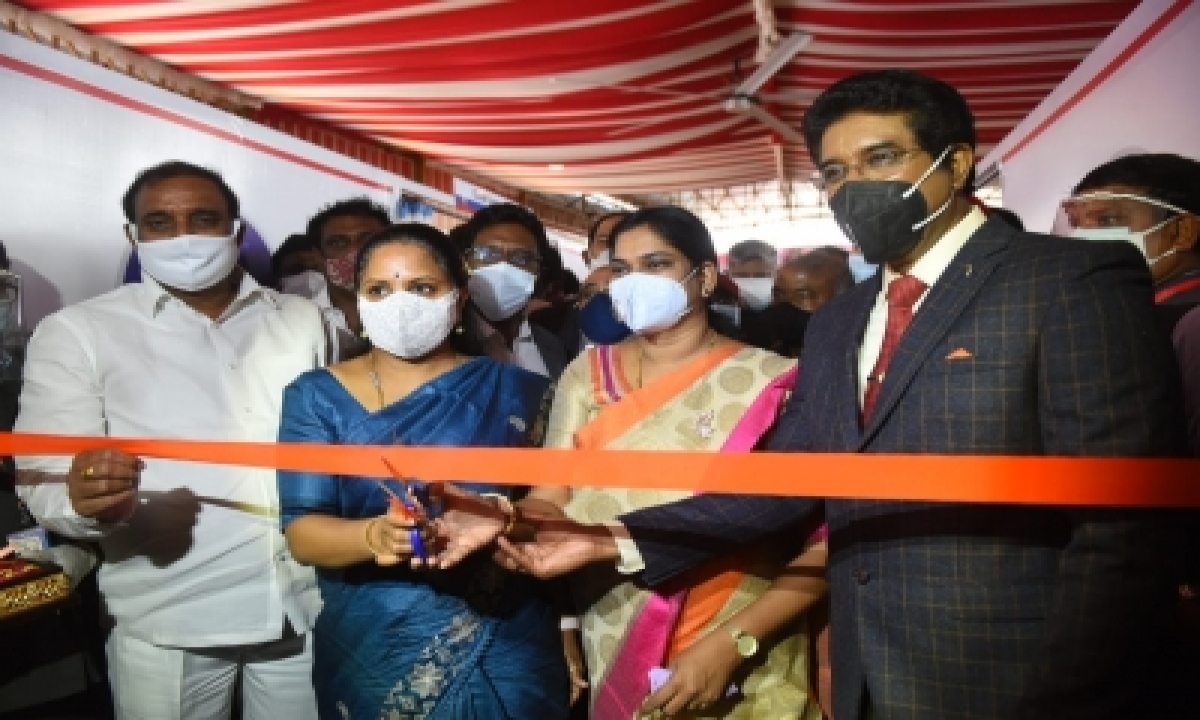 300-bed Covid Isolation Centre Comes Up In Hyderabad's Calvary Temple-TeluguStop.com