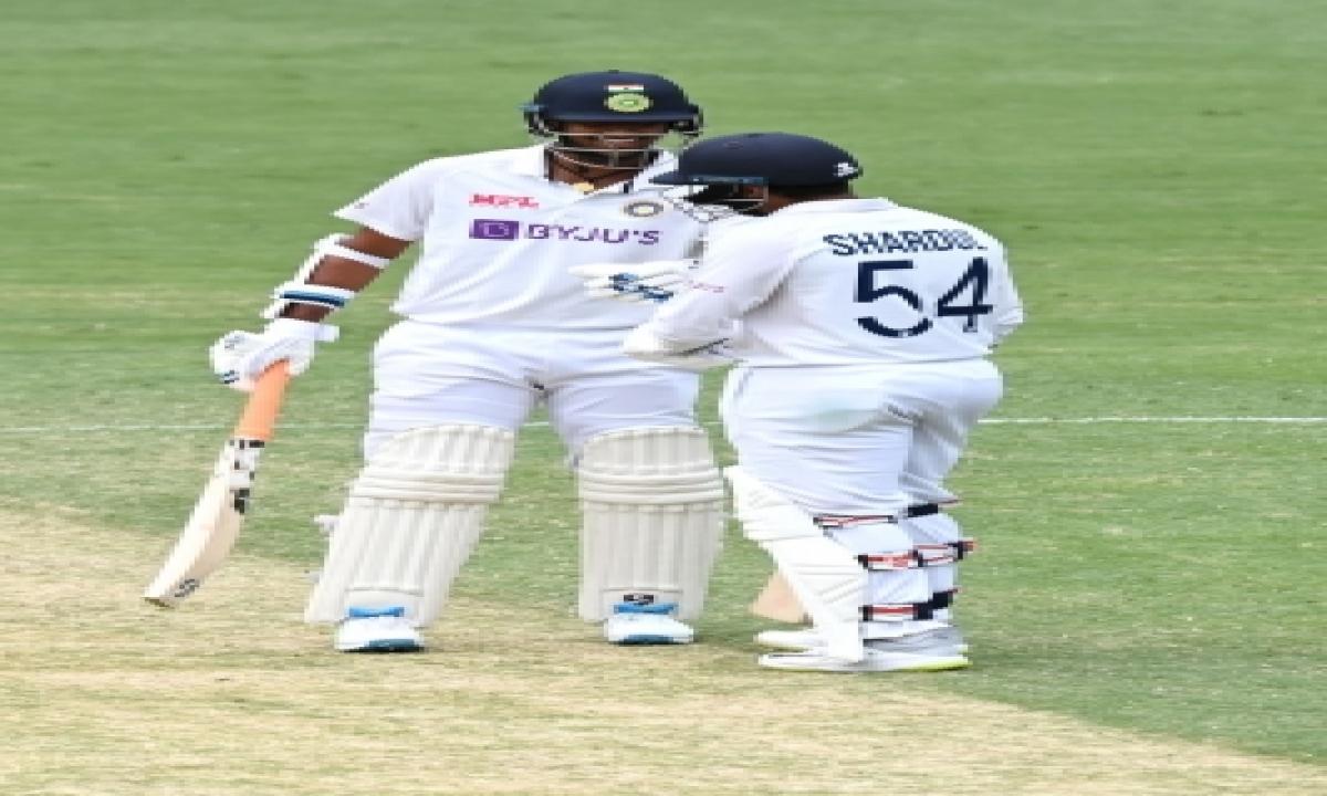 TeluguStop.com - 4th Test: Thakur, Sundar Help India Cut Down Deficit To 33