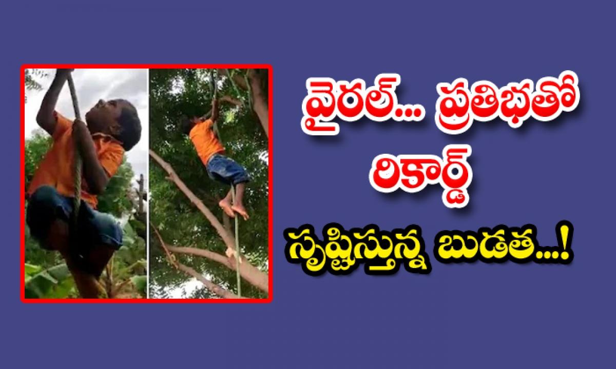 5 Year Old Body Creates Record In Rope Climbing-వైరల్.. ప్రతిభతో రికార్డ్ సృష్టిస్తున్న బుడత..-General-Telugu-Telugu Tollywood Photo Image-TeluguStop.com