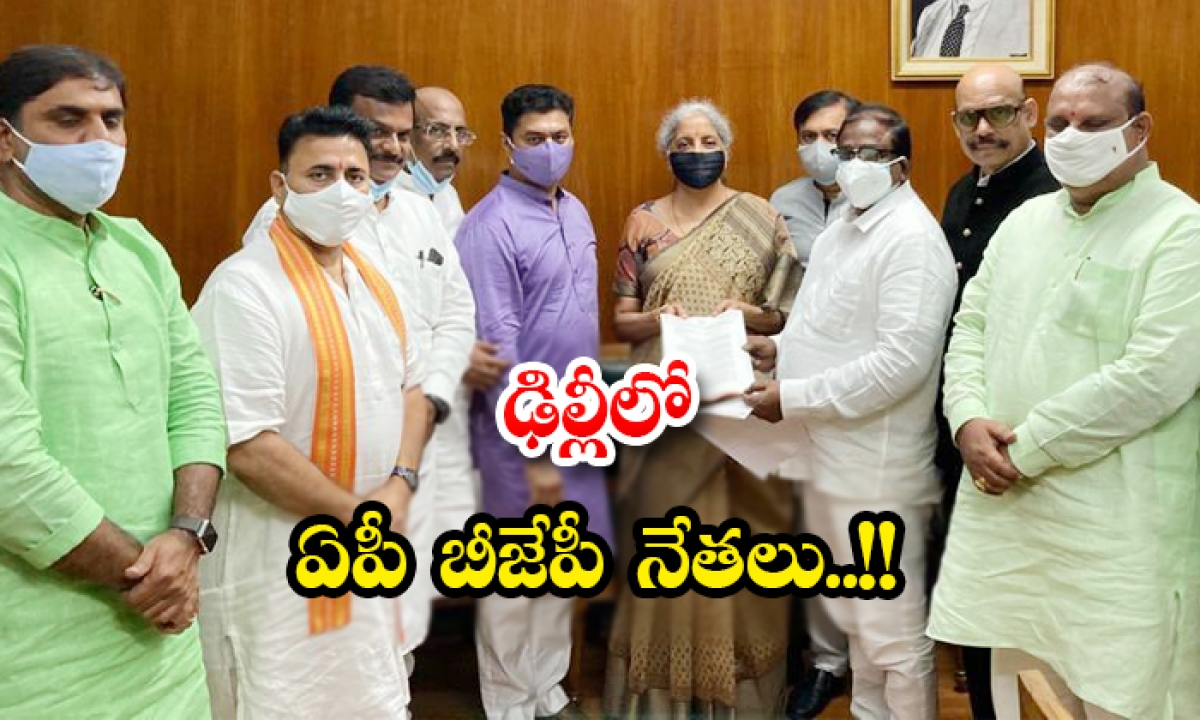 Ap Bjp Leaders In Delhi-ఢిల్లీలో ఏపీ బీజేపీ నేతలు..-Latest News - Telugu-Telugu Tollywood Photo Image-TeluguStop.com