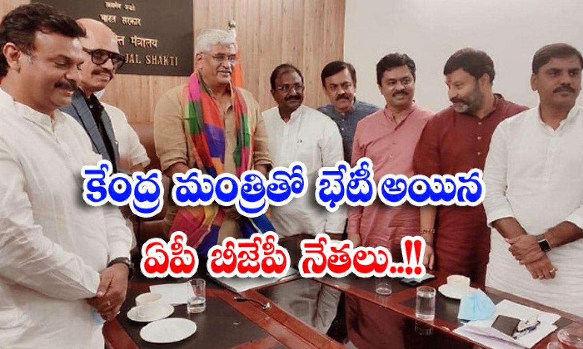 Ap Bjp Leaders Who Met The Union Minister-కేంద్ర మంత్రితో భేటీ అయిన ఏపీ బీజేపీ నేతలు..-Political-Telugu Tollywood Photo Image-TeluguStop.com