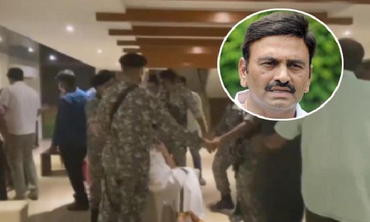 AP CID Officials Arrested YCP Rebel MP Raghurama Krishnaraju-Latest News English-Telugu Tollywood Photo Image-TeluguStop.com
