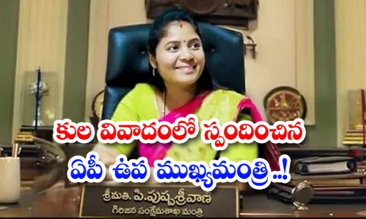 Ap Deputy Chief Minister Responds To Caste Controversy-TeluguStop.com