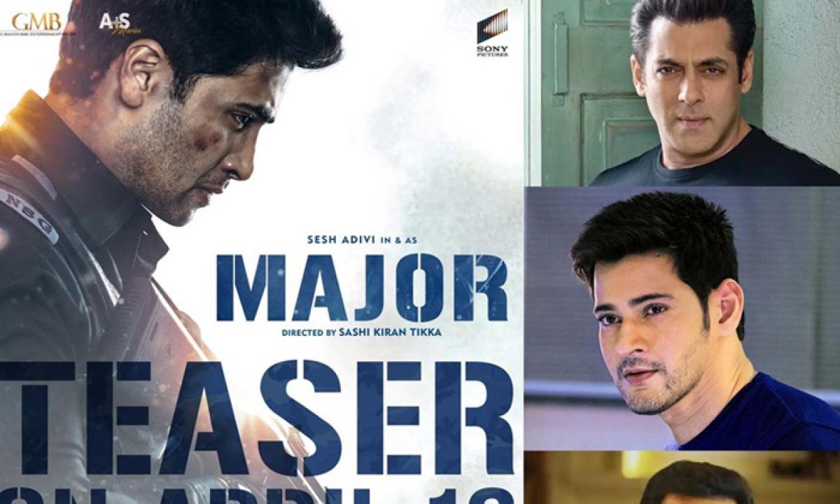 Salman, Mahesh, Prithviraj Join Hands For 'major' Teaser Launch-TeluguStop.com
