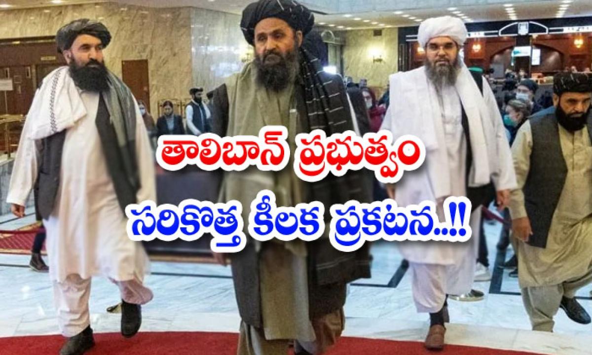 Taliban Governments Latest Key Announcement-తాలిబాన్ ప్రభుత్వం సరికొత్త కీలక ప్రకటన..-Political-Telugu Tollywood Photo Image-TeluguStop.com