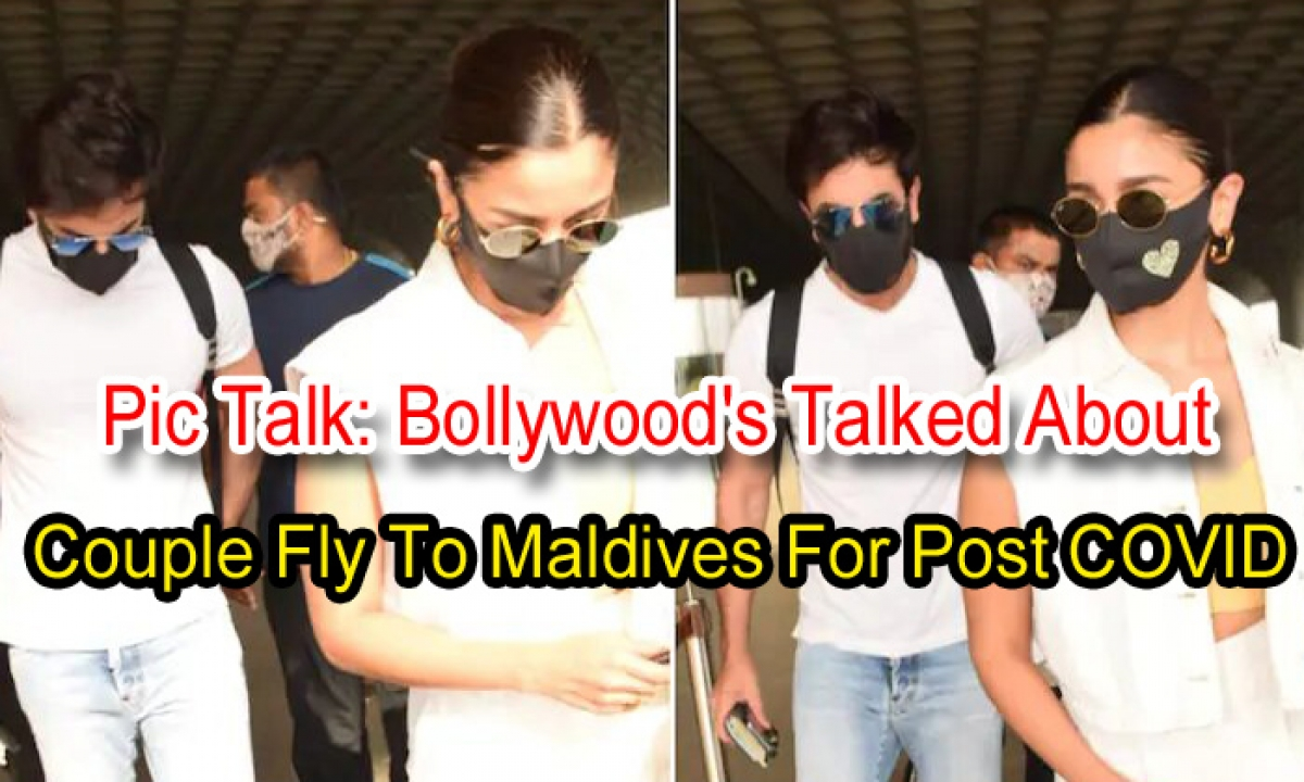 Pic Talk: Bollywood's Talked About Couple Fly To Maldives For Post Covid-TeluguStop.com