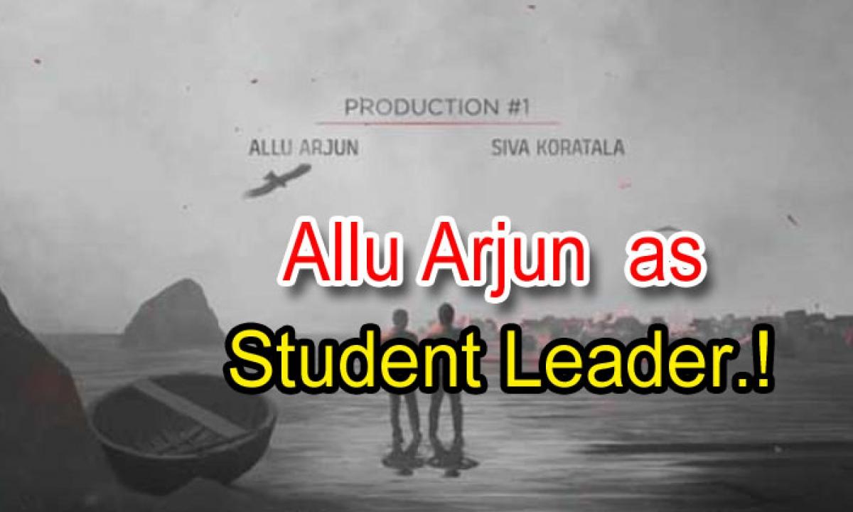 Allu Arjun As Student Leader!-TeluguStop.com