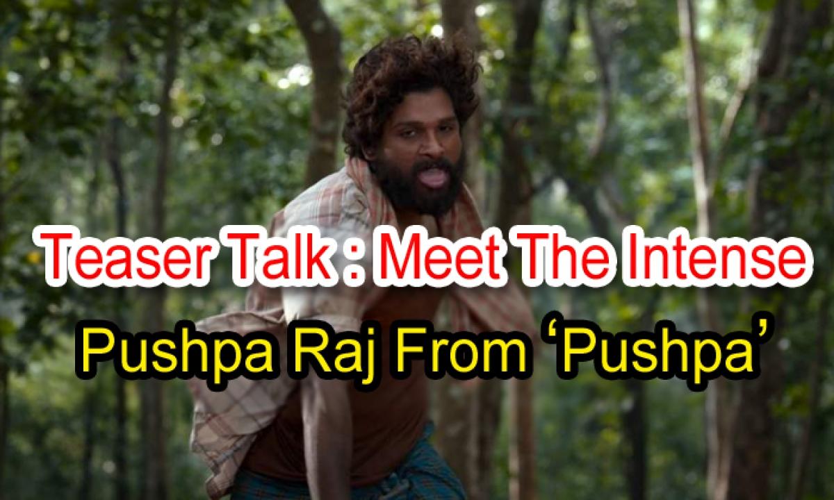 Teaser Talk: Meet The Intense Pushpa Raj From 'pushpa'-TeluguStop.com