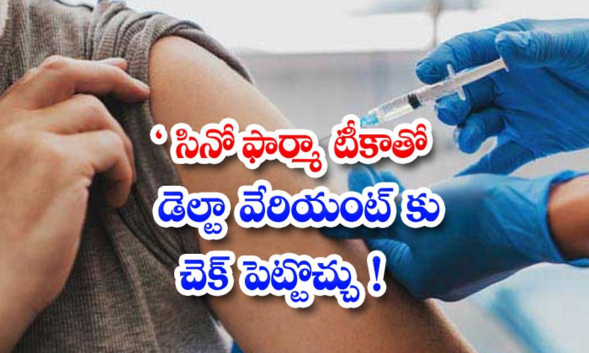 Sinopharm Vacci Ne Highly Efficient Against Delta Variant-సినోఫార్మా టీకాతో డెల్టా వేరియంట్కు చెక్ పెట్టొచ్చు'-General-Telugu-Telugu Tollywood Photo Image-TeluguStop.com