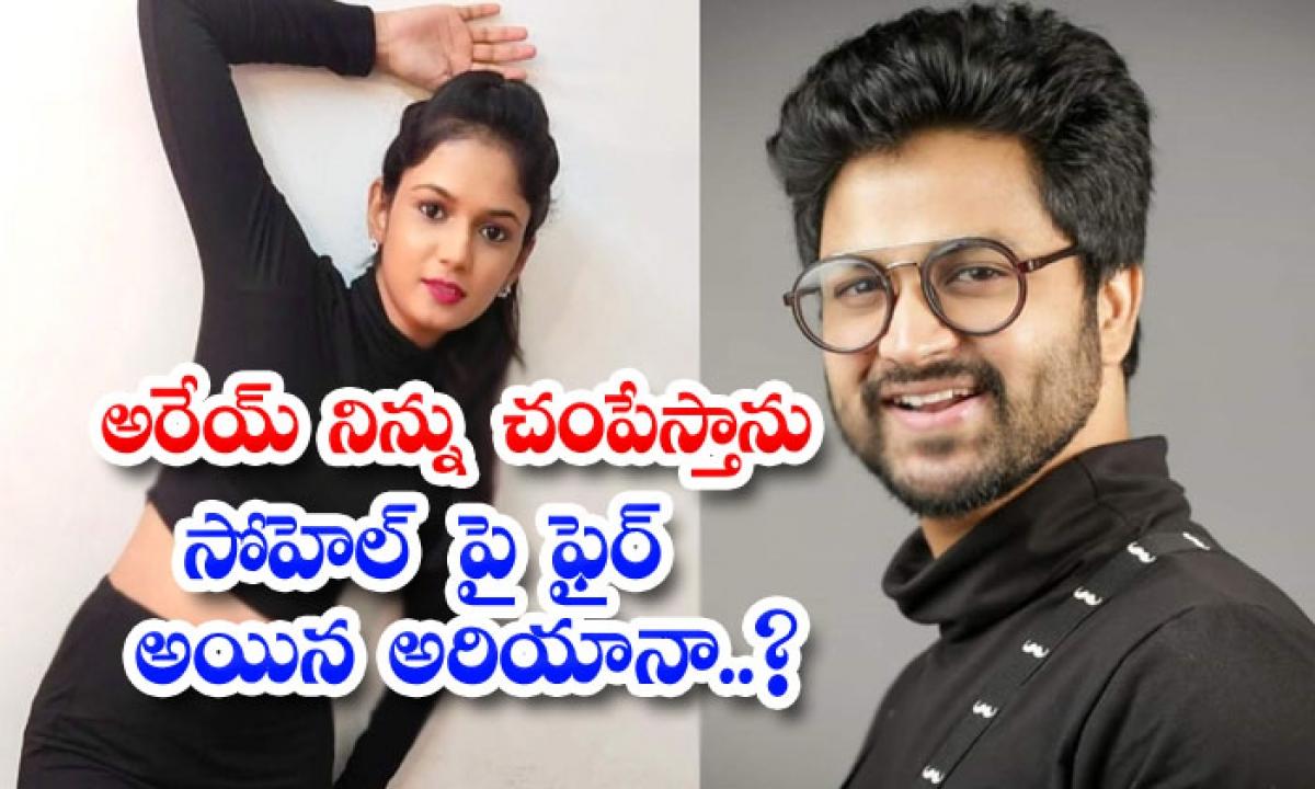 Ariyana Glory Fires On Sohel About Bigg Boss Issue-అరేయ్ నిన్ను చంపేస్తాను.. సోహెల్ పై ఫైర్ అయిన అరియానా..-Latest News - Telugu-Telugu Tollywood Photo Image-TeluguStop.com