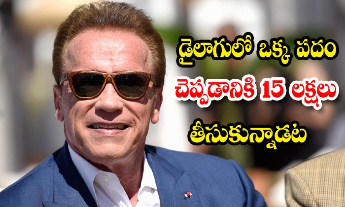 Arnold Schwarzenegger Hollywood Actor Hero Terminator 2 Judgement Day-ఆ స్టార్ హీరో డైలాగులో ఒక్క పదం చెప్పడానికి 15 లక్షల రూపాయలు తీసుకున్నాడట….-Latest News - Telugu-Telugu Tollywood Photo Image-TeluguStop.com