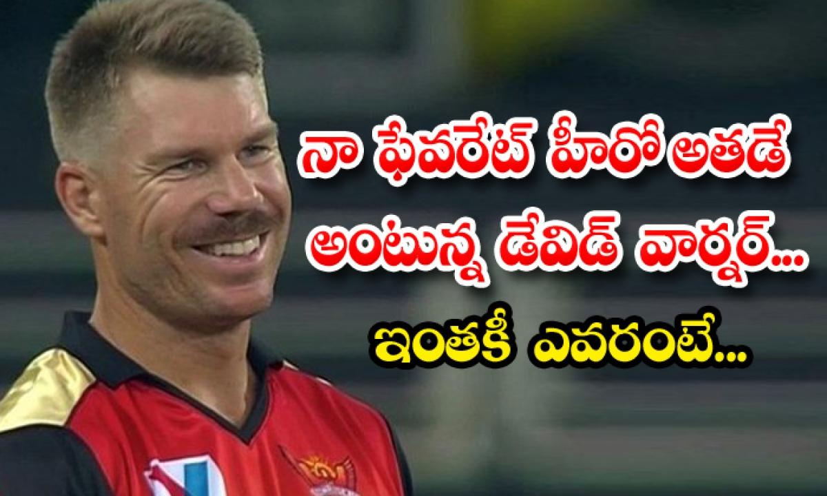 Australian Cricketer David Warner React About His Favorite Heroes In Tollywood-నా ఫేవరెట్ హీరో అతడే అంటున్న డేవిడ్ వార్నర్.. ఇంతకీ ఎవరంటే…-Latest News - Telugu-Telugu Tollywood Photo Image-TeluguStop.com