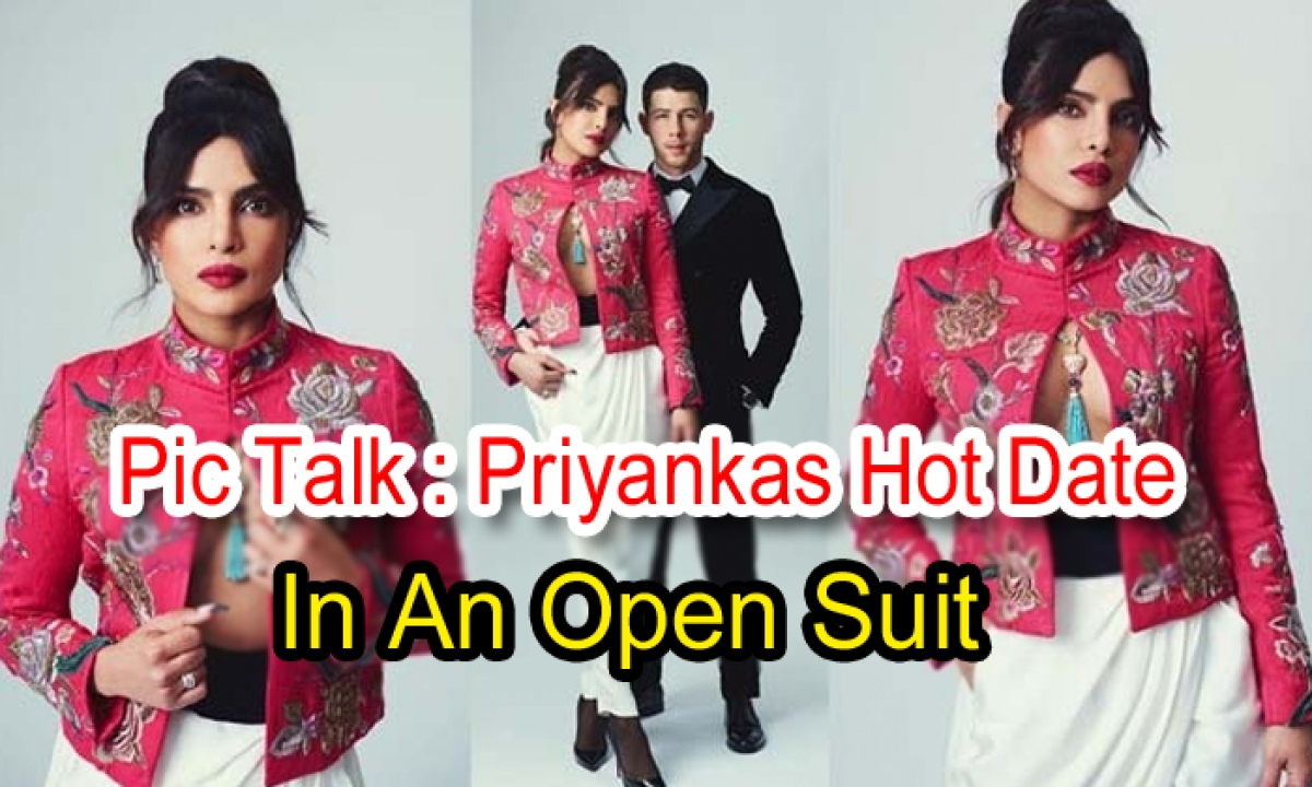 Pic Talk: Priyanka's Hot Date In An Open Suit-TeluguStop.com