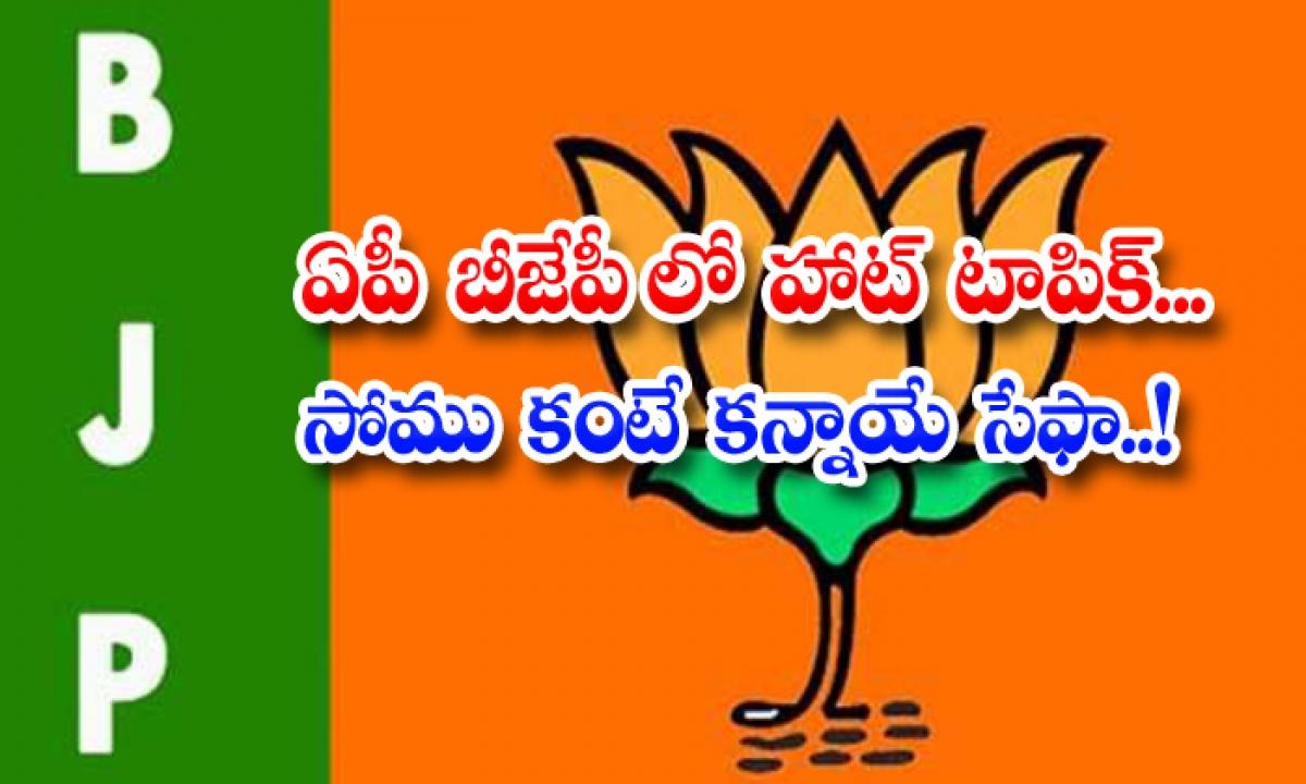 Bjp Somu Veerraju Kanna Laxmi Narayana Ap-ఏపీ బీజేపీలో హాట్ టాపిక్… సోము కంటే కన్నాయే సేఫా…-Latest News - Telugu-Telugu Tollywood Photo Image-TeluguStop.com