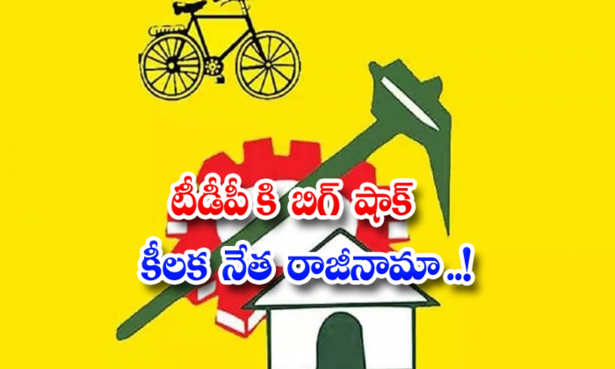 Big Shock Key Leader Resigns For Tdp-టీడీపీ కి బిగ్ షాక్ కీలక నేత రాజీనామా..-Political-Telugu Tollywood Photo Image-TeluguStop.com