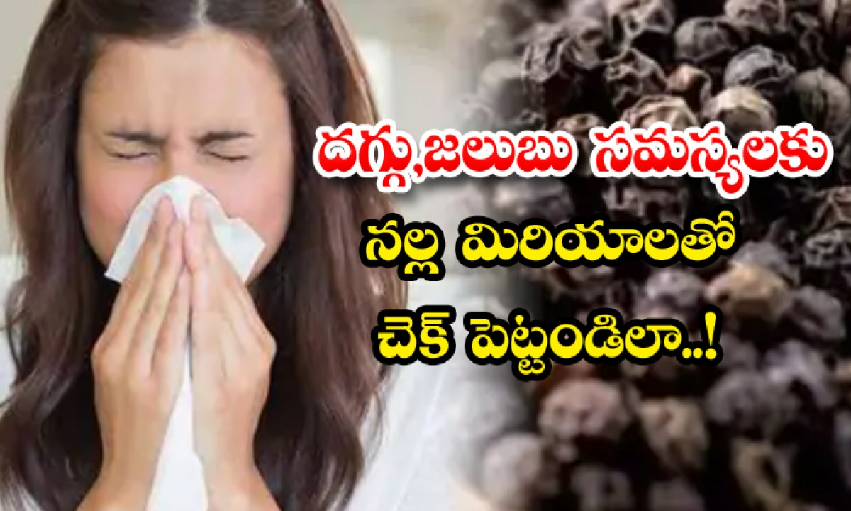Black Pepper Helps To Get Rid Of Cold And Cough-దగ్గు, జలుబు సమస్యలకు నల్ల మిరియాలతో చెక్ పెట్టండిలా-Latest News - Telugu-Telugu Tollywood Photo Image-TeluguStop.com