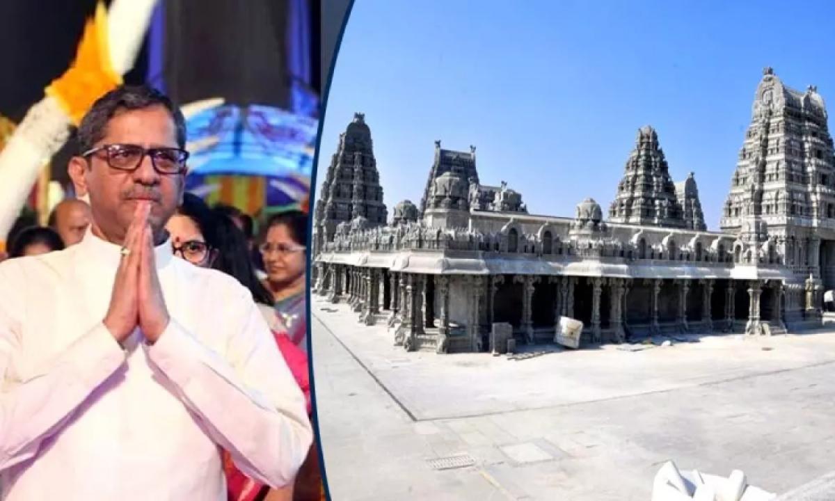 CJI Justice NV Ramana To Visit Yadadri Temple Today-Latest News - Telugu-Telugu Tollywood Photo Image-TeluguStop.com