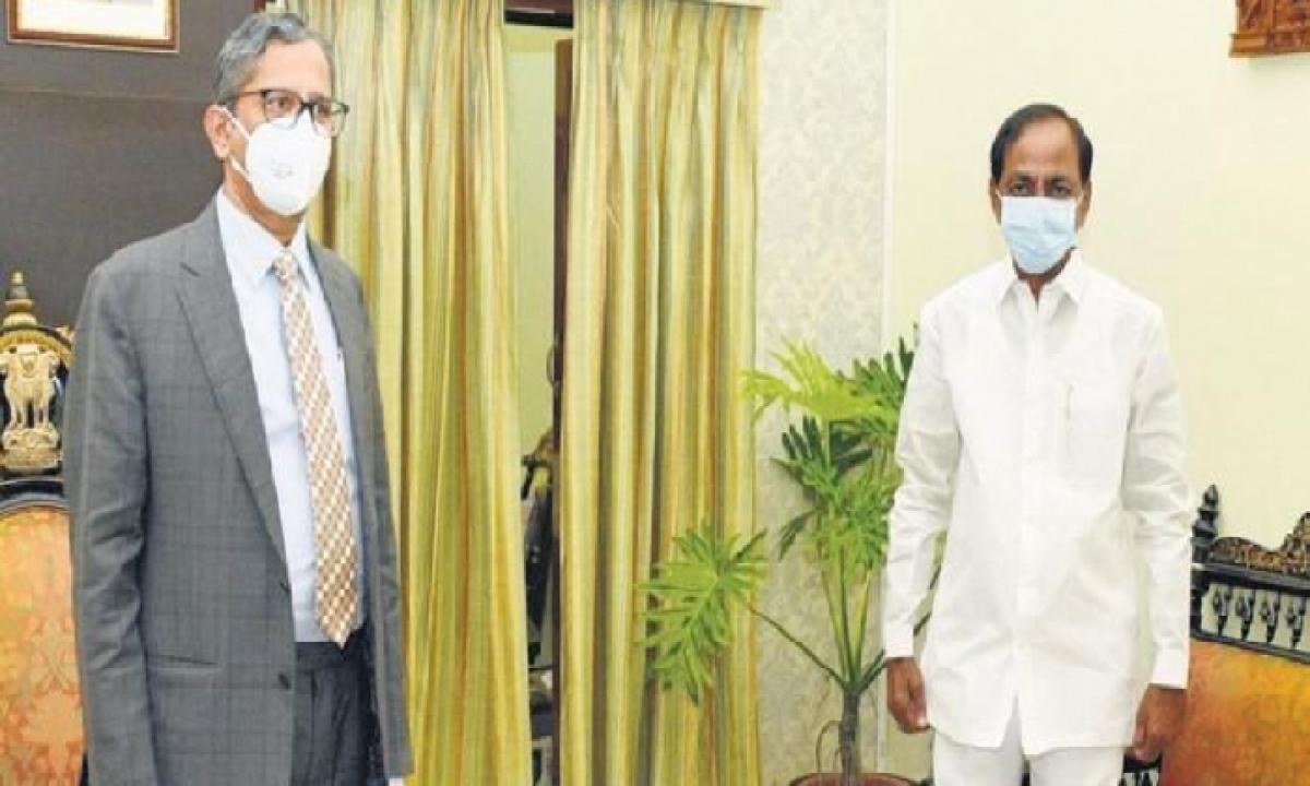 CJI NV Ramana To Visit Yadadri On June 14-Latest News English-Telugu Tollywood Photo Image-TeluguStop.com