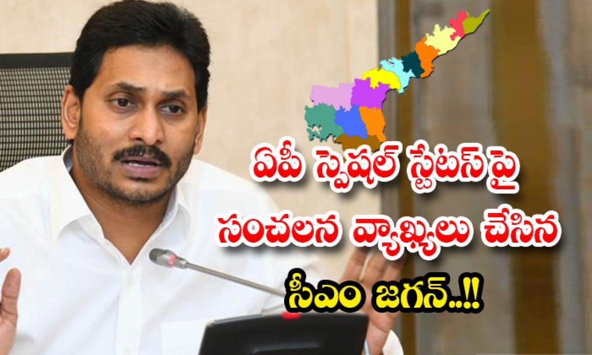Cm Jagan Sensational Comments On Ap Special Status-ఏపీ స్పెషల్ స్టేటస్ పై సంచలన వ్యాఖ్యలు చేసిన సీఎం జగన్..-Political-Telugu Tollywood Photo Image-TeluguStop.com