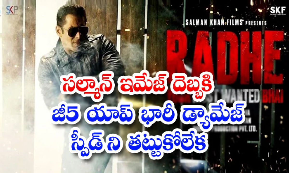 Radhe Movie Got Huge Response In G5 Ott-సల్మాన్ ఇమేజ్ దెబ్బకి జీ5 యాప్ భారీ డ్యామేజ్… స్పీడ్ ని తట్టుకోలేక-Latest News - Telugu-Telugu Tollywood Photo Image-TeluguStop.com