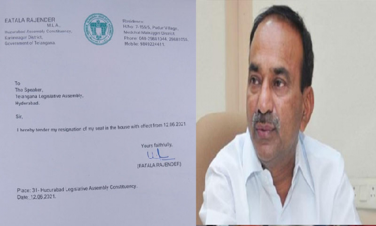 Etela's Resignation Has Been Approved By The Speaker Of The T'gana Assembly-Latest News - Telugu-Telugu Tollywood Photo Image-TeluguStop.com