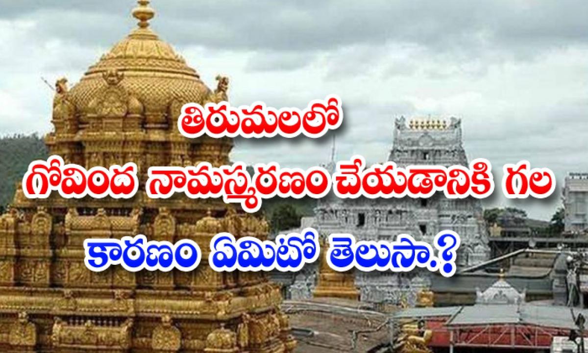 What Is Reason Of Govinda Namasmaranam In Thirumala-తిరుమలలో గోవింద నామస్మరణం చేయడానికి గల కారణం ఏమిటో తెలుసా-Latest News - Telugu-Telugu Tollywood Photo Image-TeluguStop.com