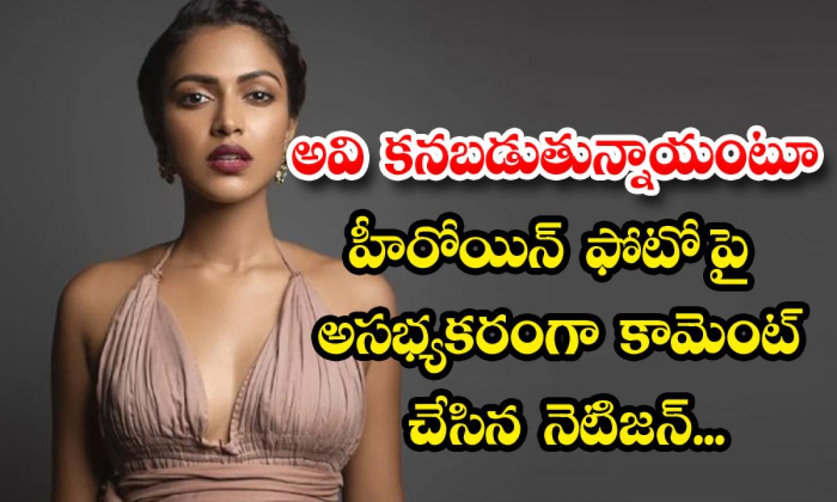 Heroine Amala Paul Hard Reply To The Netizen Abuse Comment-అవి కనబడుతున్నాయంటూ హీరోయిన్ ఫోటో పై అసభ్యకరంగా కామెంట్ చేసిన నెటిజన్…-Latest News - Telugu-Telugu Tollywood Photo Image-TeluguStop.com
