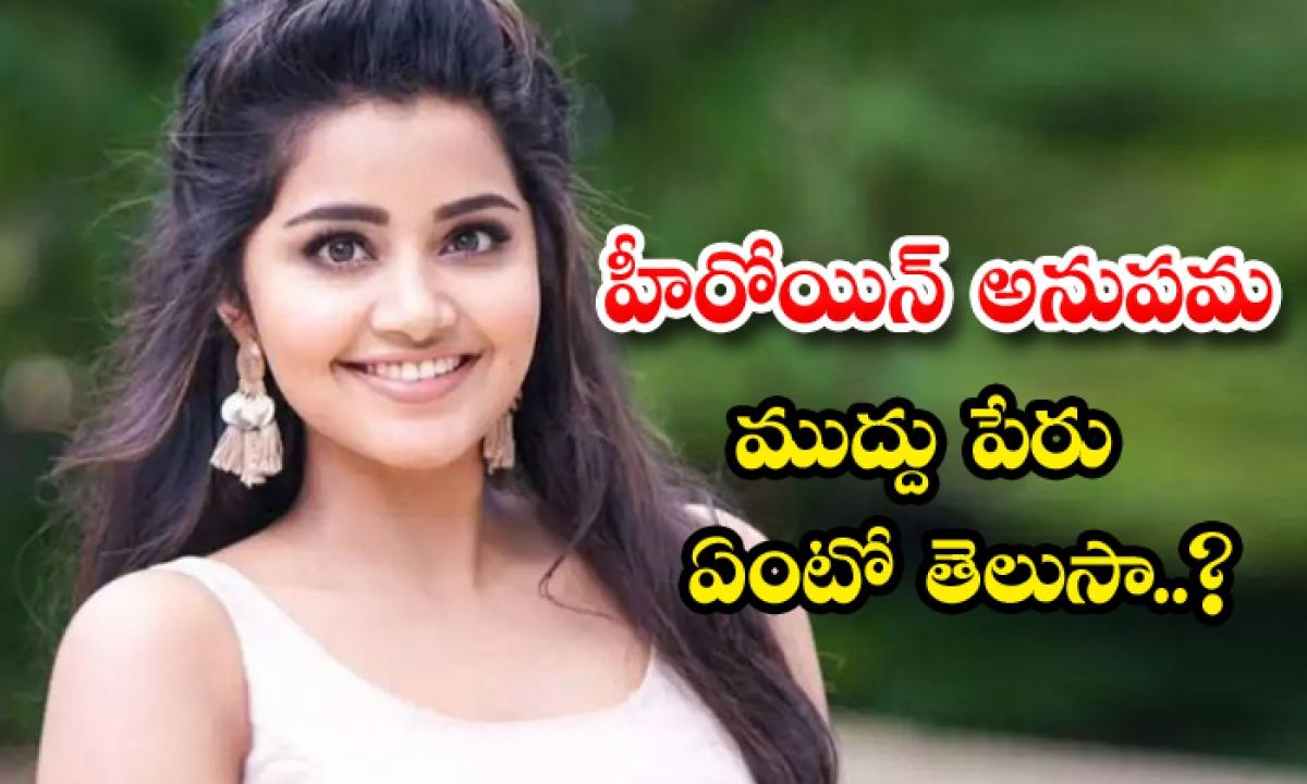 Young Heroine Anupama Parameshwaran Nick Name Details-TeluguStop.com