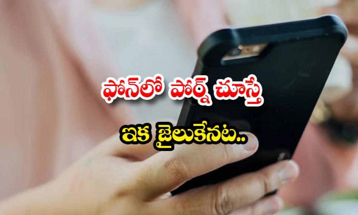 If You Watch Porn On The Phone You Will Be In Jail-ఫోన్లో పోర్న్ చూస్తే ఇక జైలుకేనట..-General-Telugu-Telugu Tollywood Photo Image-TeluguStop.com