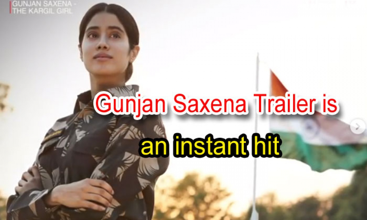 Gunjan Saxena Trailer Is An Instant Hit: Janhvi Kapoor Shines As The First Indian Female Air Force Pilot In Combat-Movie-English-Telugu Tollywood Photo Image-TeluguStop.com