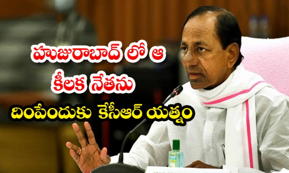 Kcr Is Trying To Bring Down That Key Leader In-హుజురాబాద్ లో ఆ కీలక నేతను దింపేందుకు కేసీఆర్ యత్నం-Latest News - Telugu-Telugu Tollywood Photo Image-TeluguStop.com