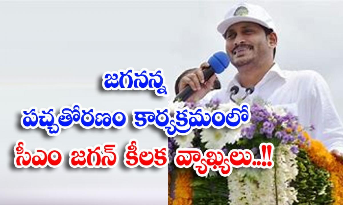 Key Remarks By Cm Jagan On Jagan Anna Pachchatoranam Program-జగనన్న పచ్చతోరణం కార్యక్రమంలో సీఎం జగన్ కీలక వ్యాఖ్యలు..-Political-Telugu Tollywood Photo Image-TeluguStop.com
