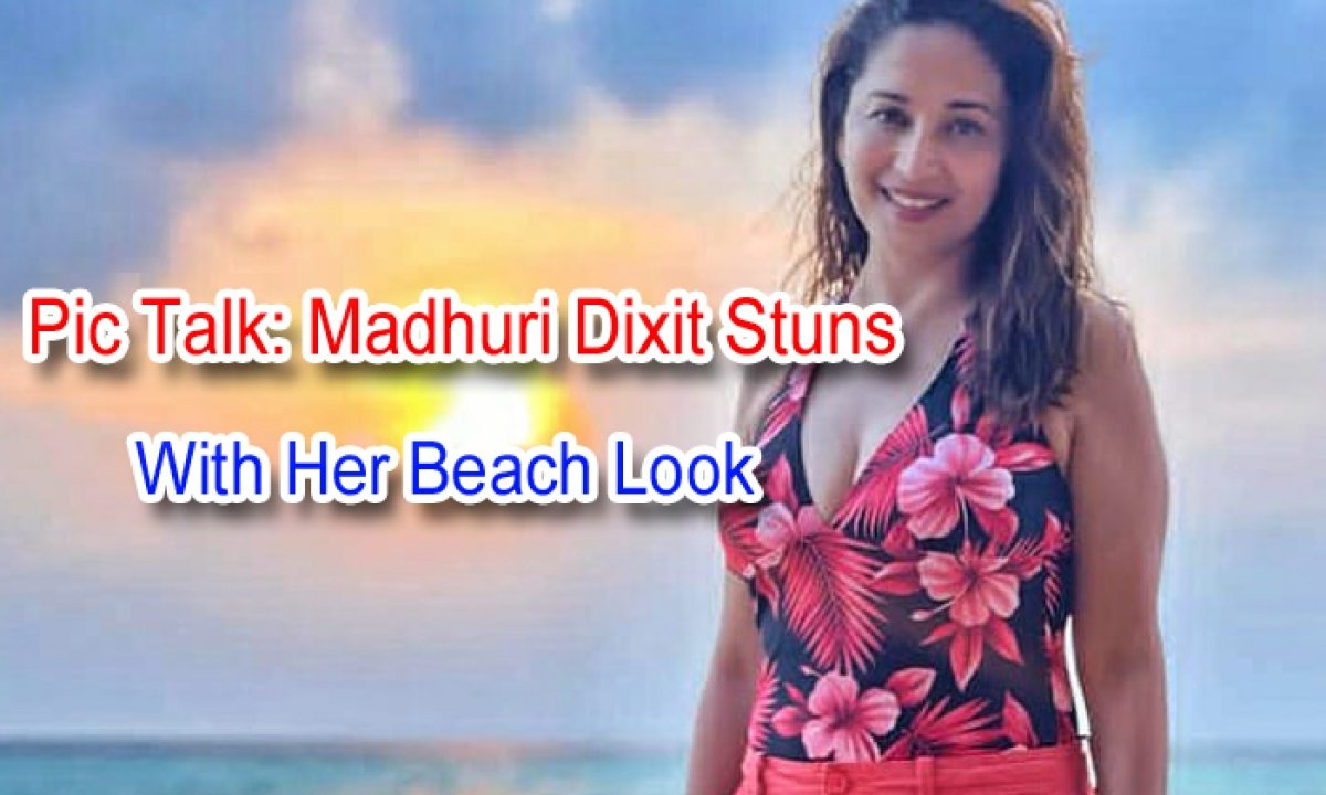 Pic Talk: Madhuri Dixit Stuns With Her Beach Look-TeluguStop.com