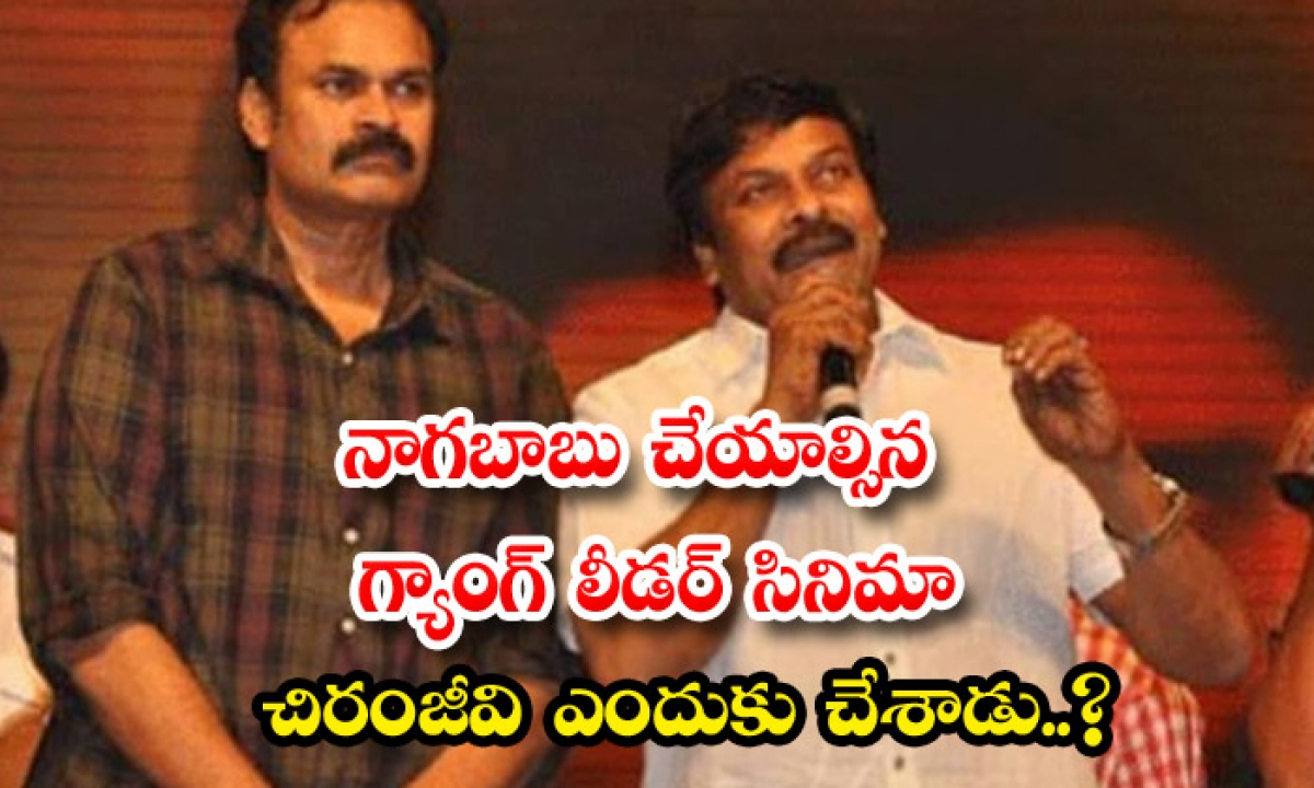 Why Chiranjeevi Acted In Gang Leader Movie-TeluguStop.com