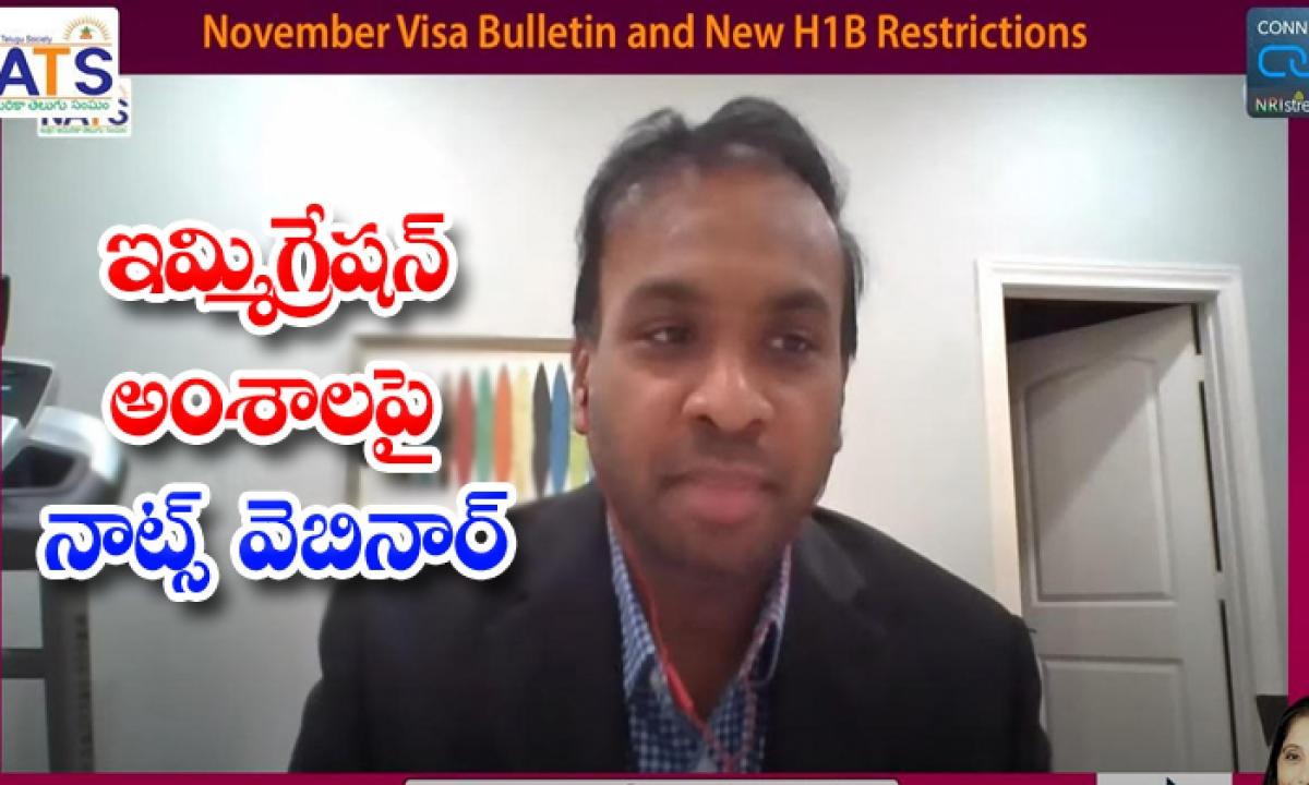 Nats Webinar About Immigration Eliments-ఇమ్మిగ్రేషన్ అంశాలపై నాట్స్ వెబినార్-Breaking/Featured News Slide-Telugu Tollywood Photo Image-TeluguStop.com