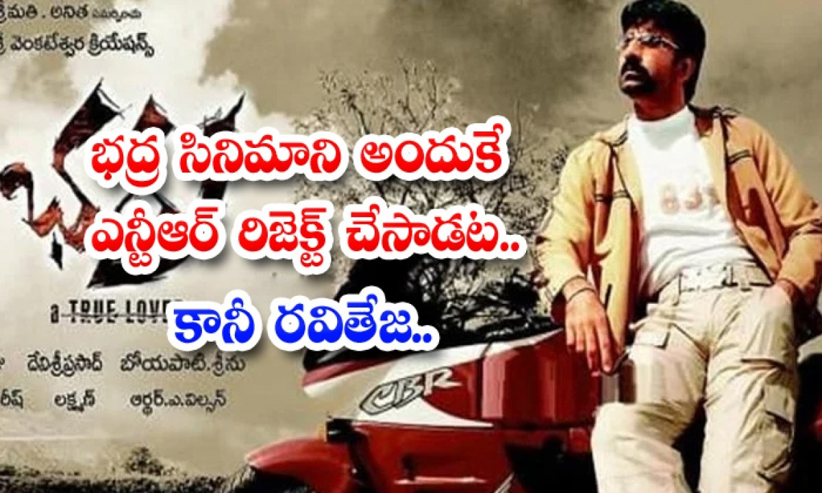 Bhadra Movie Story Rejected By Ntr For No Dates Available-TeluguStop.com