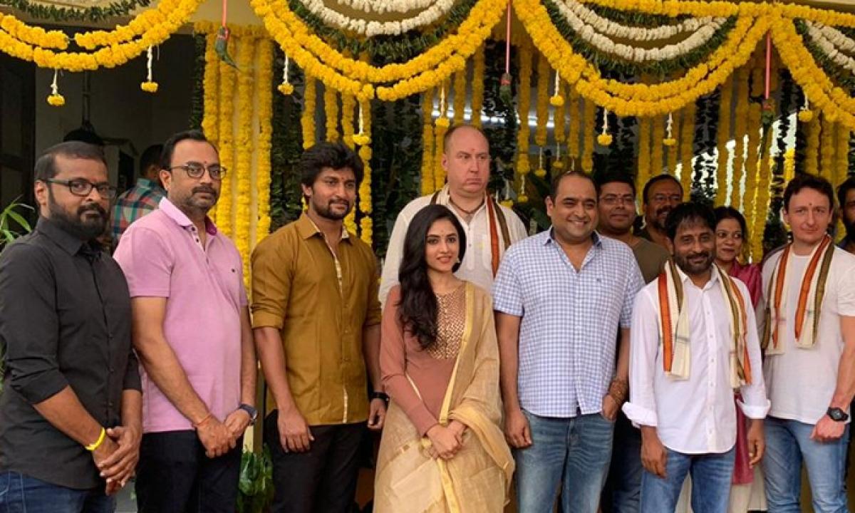 Nani24 Movie Launching With Vikram K Kumar Direction-విక్రమ్ కె కుమార్ సినిమా స్టార్ట్ చేసిన నాని-Movie-Telugu Tollywood Photo Image-TeluguStop.com
