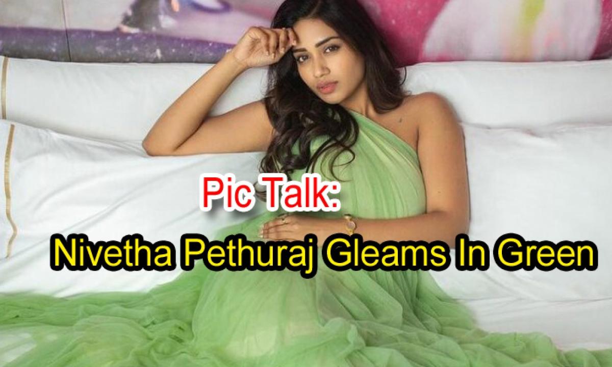 Pic Talk: Nivetha Pethuraj Gleams In Green-Latest News English-Telugu Tollywood Photo Image-TeluguStop.com