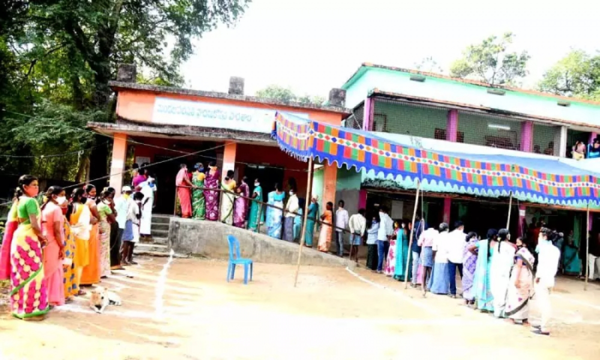 Huge Security Forces Were Deployed At Maoist-affected Polling Stations In Ap-TeluguStop.com
