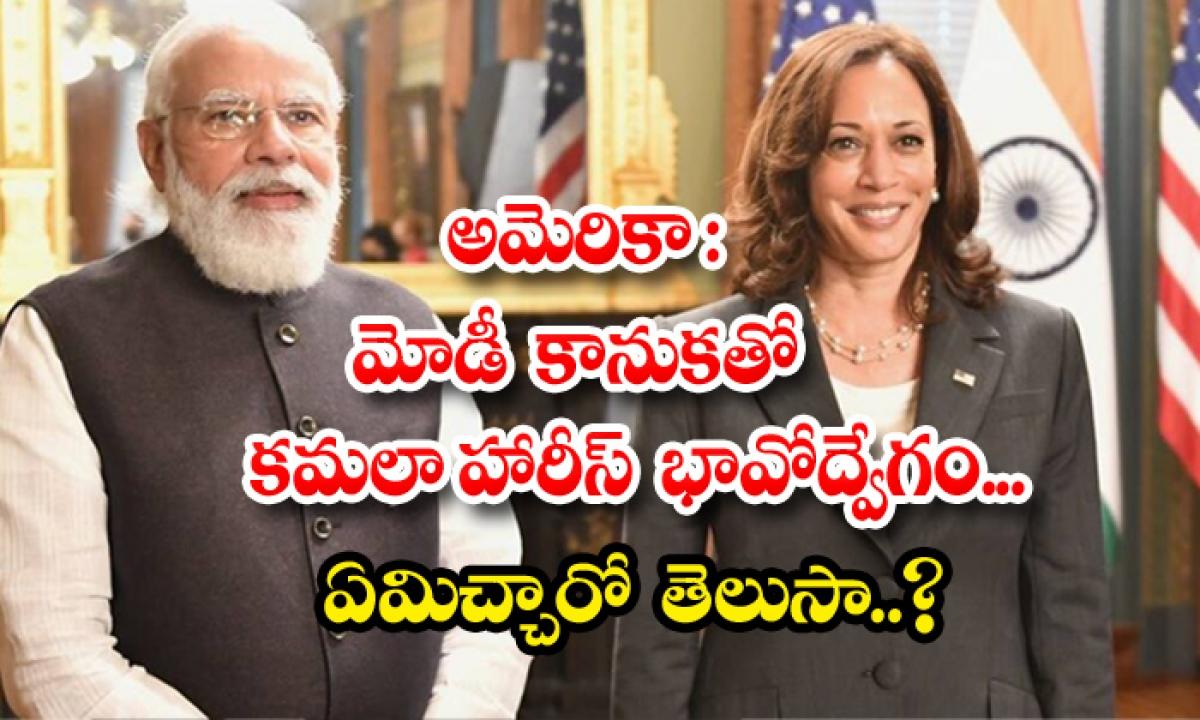 Pm Narendra Modis Special Gift To Us Vice Prez Kamala Harris-అమెరికా: మోడీ కానుకతో కమలా హారిస్ భావోద్వేగం.. ఏమిచ్చారో తెలుసా..-Latest News - Telugu-Telugu Tollywood Photo Image-TeluguStop.com