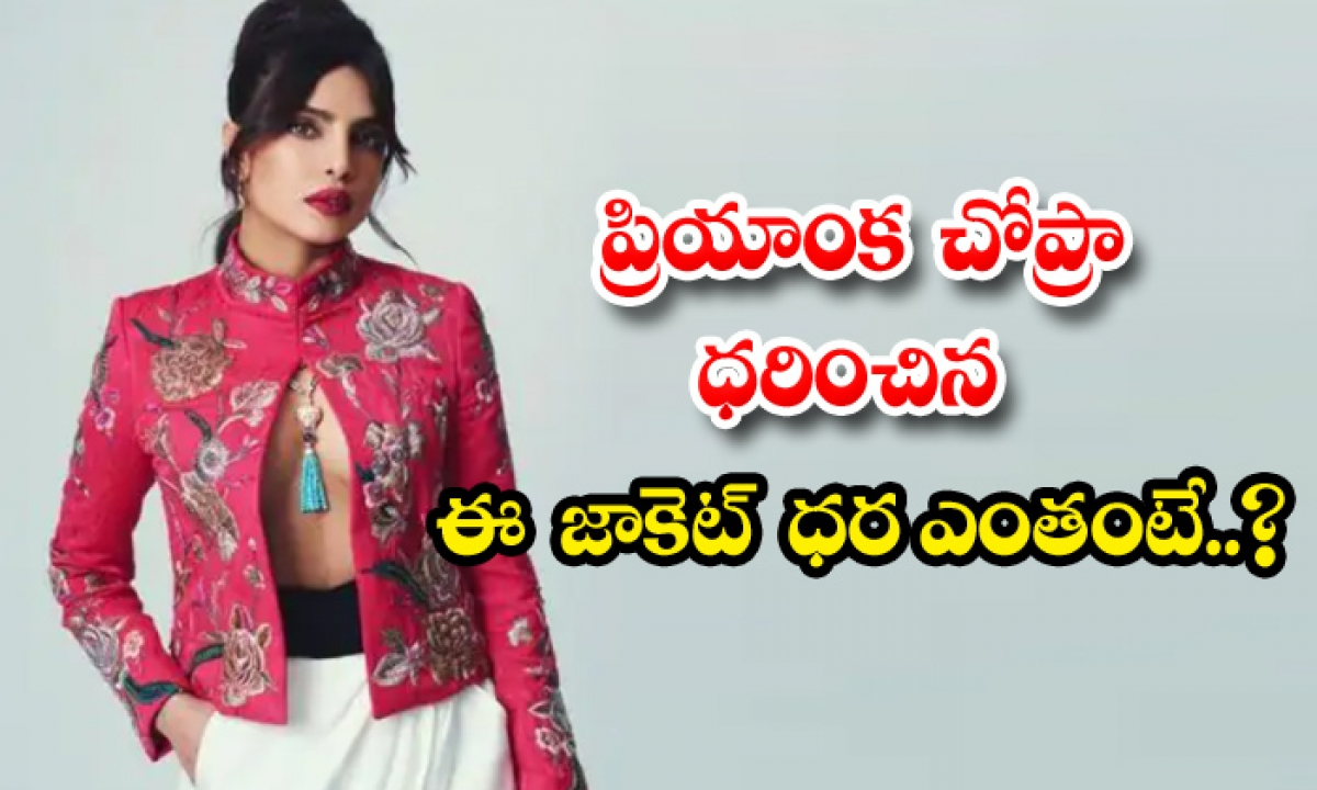 Priyanka Chopra Red Jacket Price-TeluguStop.com