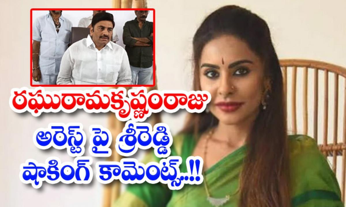 Sri Reddys Shocking Comments On Raghuram Krishnan Rajus Arrest-TeluguStop.com