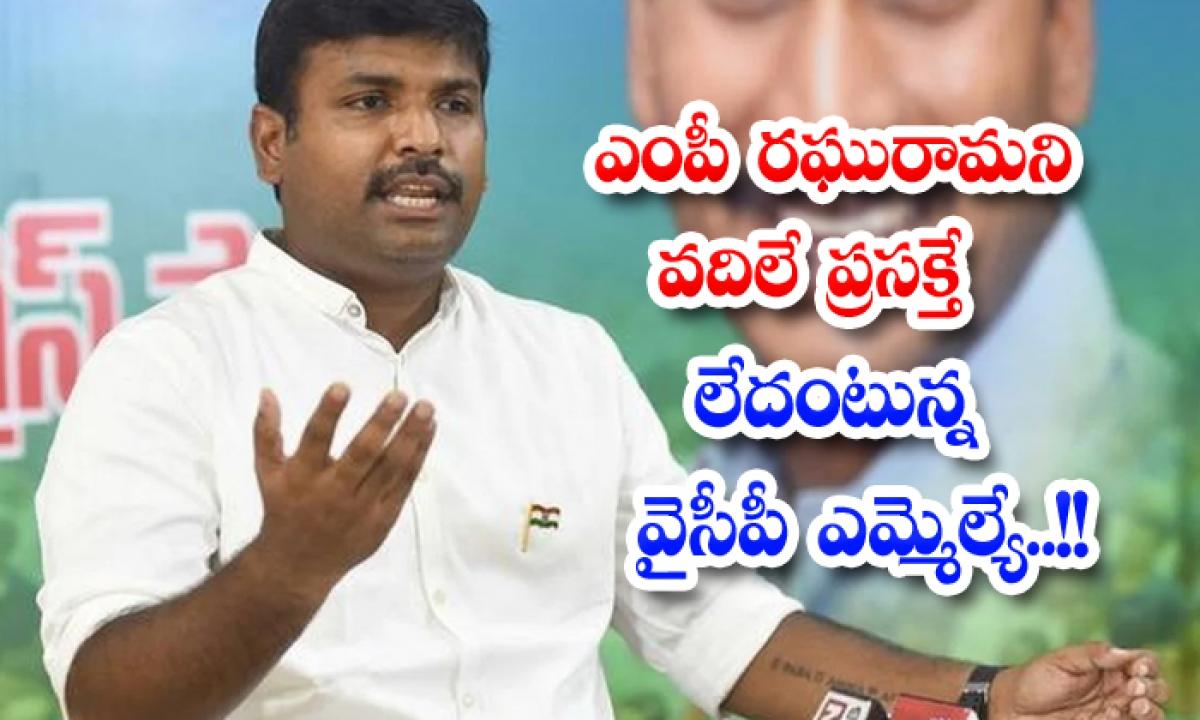 Ycp Mla Sensational Comments On Raghurama Krishnam Raju-TeluguStop.com