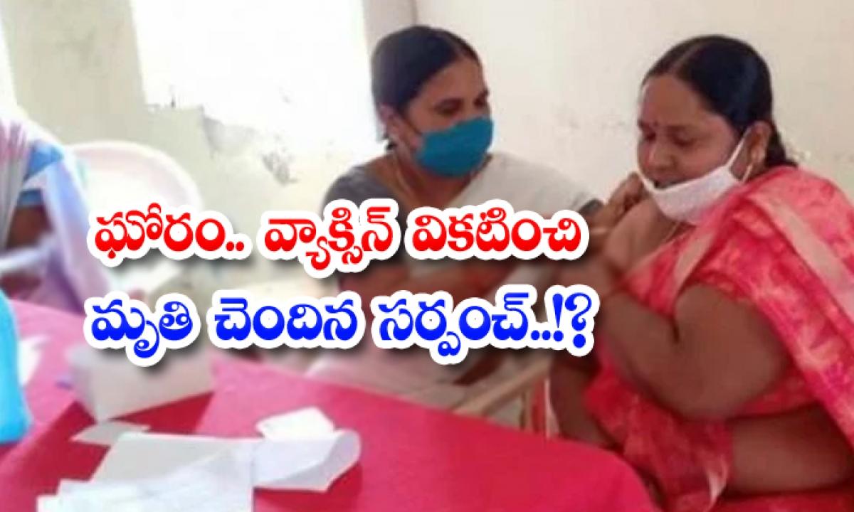 Sarpanch Killed By Vaccine Mutation-TeluguStop.com