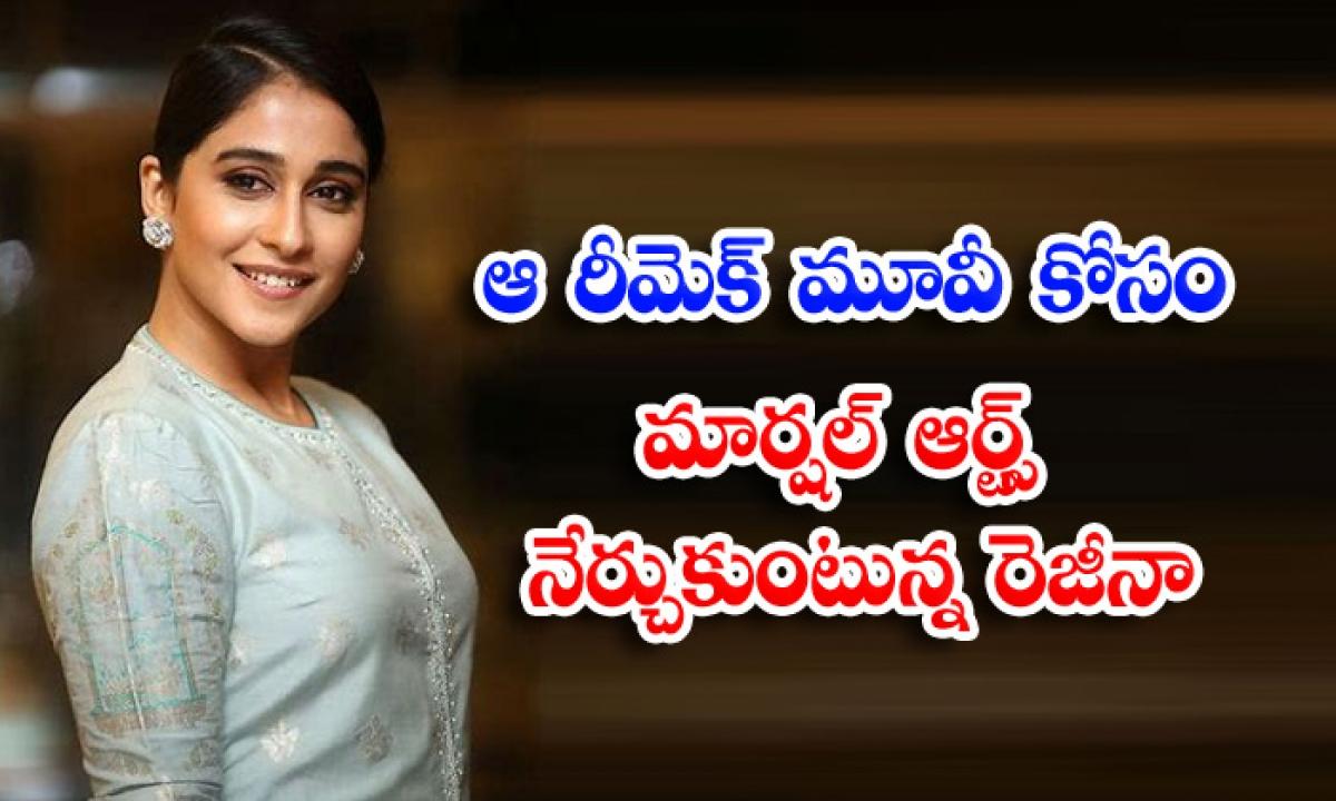 Regina Cassandra Martial Arts Practice For New Movie-ఆ రీమేక్ మూవీ కోసం మార్షల్ ఆర్ట్స్ నేర్చుకుంటున్న రెజీనా-Latest News - Telugu-Telugu Tollywood Photo Image-TeluguStop.com