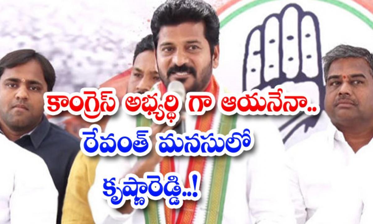 He A Congress Candidate Krishnareddy In Rewanth Mind-కాంగ్రెస్ అభ్యర్థిగా ఆయనేనా.. రేవంత్ మనసులో కృష్ణారెడ్డి…-Latest News - Telugu-Telugu Tollywood Photo Image-TeluguStop.com