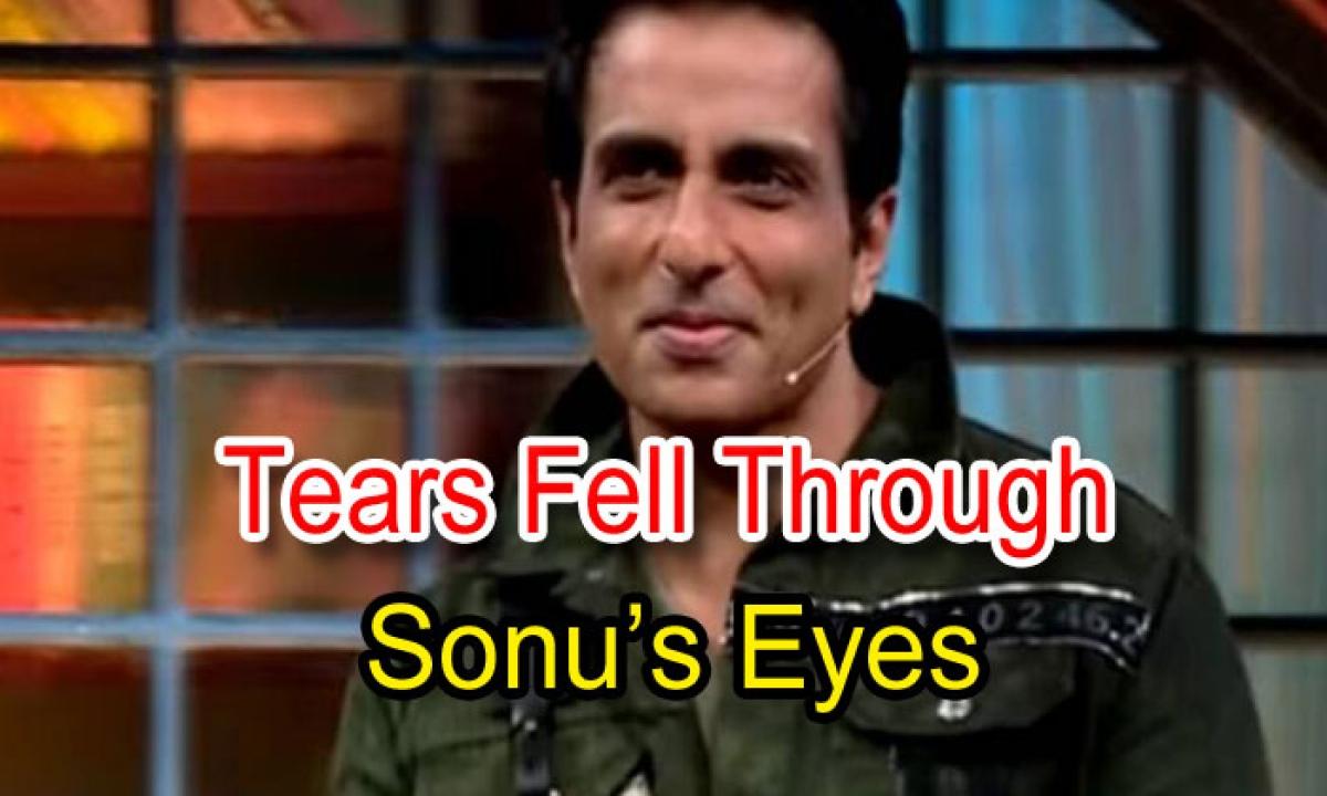 Tears Fell Through Sonu's Eyes-TeluguStop.com